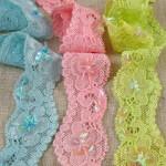 Dentelle Lycra paillettes 3 couleurs