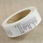 Rouleau de 1000 étiquettes de composition à compléter