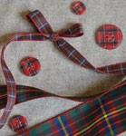 Ruban de taffetas écossais