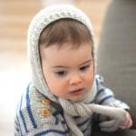 Béguin écharpe à tricoter bébé