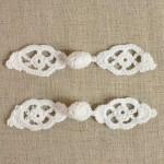 Brandebourg blanc au crochet 120 mm