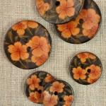 Bouton coco décor fleur
