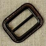 Boucle de ceinture cuir et métal, marron ou gris anthracite
