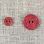 Bouton 2 trous martelé rose et or