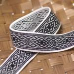 Elastique ethnique 25 mm pour bretelles à pince et jupe