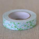 Fabric tape vert menthe vintage
