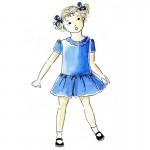 Patron couture robe fille 2, 4, 6, 8, 10 ans col pétale