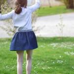Kit à coudre jupe enfant en jean pour débutant