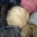 Pompon fourrure 15 cm