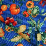 Tissu coton patchwork légumes