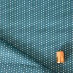 Coton Froufrou à pois bleu lagoon