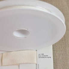 Rouleau gros grain largeur 10 à 40 mm coloris 999 Écru à teindre