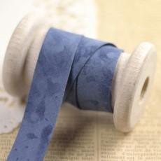 Biais marbré bleu