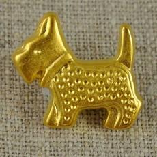 Bouton fox-terrier doré 25 mm