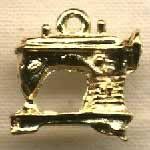 Machine à coudre dorée sequin (charm)