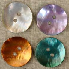 Grand bouton nacre diamètre 50 mm 4 couleurs