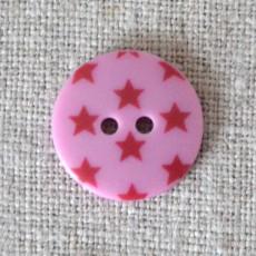 Bouton à étoiles rose