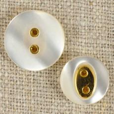 Bouton effet nacré et insert or
