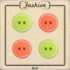 Bouton citron vert et orange