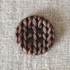 Bouton tricot marron
