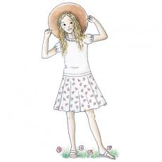 Patron couture Robe Alouette fille jersey et tissu 4-10 ans
