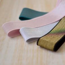 Elastique lurex 40 mm à coudre pour jupe