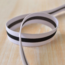 Elastique ceinture bande blanc et noir