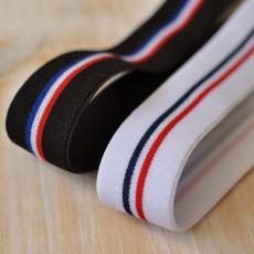 Elastique drapeau français ceinture boxer noir ou blanc