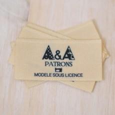 Etiquettes à coudre licence commerciale couture patrons A&A