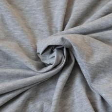 Jersey gris clair chiné Bio au mètre