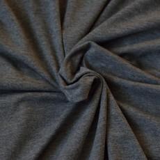 tissu jersey gris chiné foncé Bio au mètre