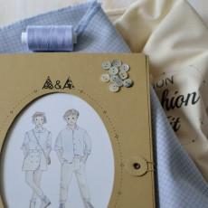 Kit couture chemise Sitelle 4-10 ans