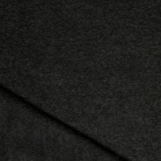 Laine bouillie noire de luxe pour couture de manteau et veste