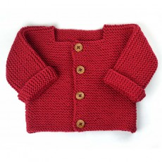modèle à tricoter bébé débutant gilet Paul