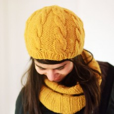 Modèle à tricoter bonnet Marta