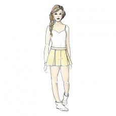 Patron couture short Mouffetard ado