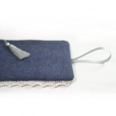 Kit à coudre pochette dentelle et jean