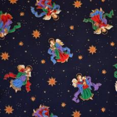 Tissu imprimé ange Noël