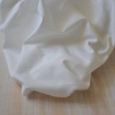 Tissu popeline de coton Bio blanc lawn