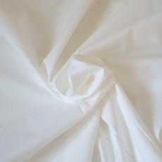 Tissu voile de coton bio blanc au mètre