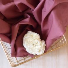 Tissu voile de coton bio rose rouge amarante 70g/m²