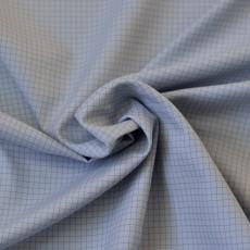 Tissu à carreaux bleu clair en coton Bio