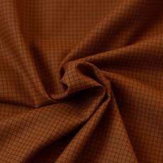 Tissu carreaux rouille coton Bio au mètre
