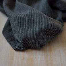 Tissu double-gaze à rayures noires coton Bio GOTS