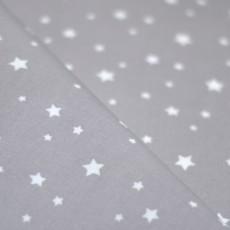 Coton enduit, plastifié imprimé taupe étoiles