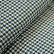 Tissu flanelle de coton à carreaux bleu et vert au mètre