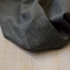 Tissu flanelle gris lurex or coton bio