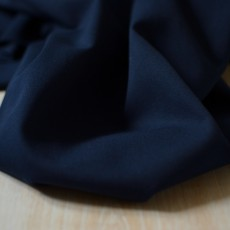 Tissu gabardine bleu marine