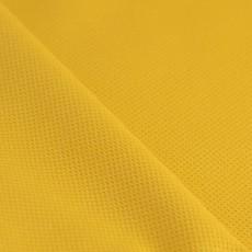 Tissu piqué de coton au mètre jaune moutarde