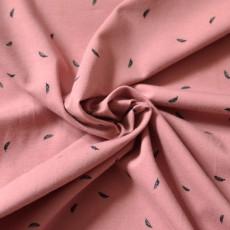Tissu jersey plume Bio rose